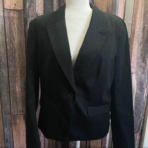 Mossimo Black Blazer / Jacket One Button Women's